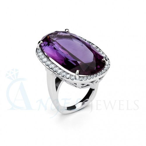 amethyst diamond rings
