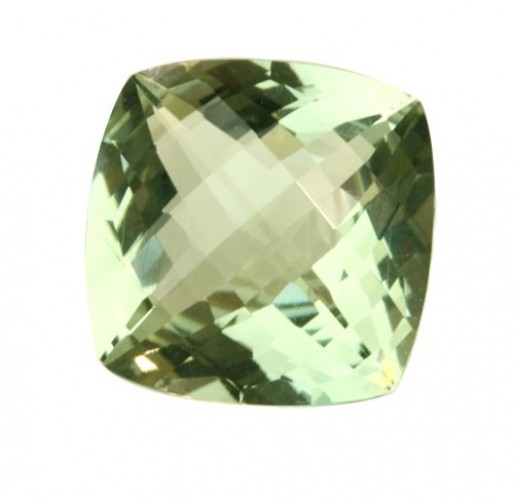 Antique Cushion Checker Board Green Amethyst