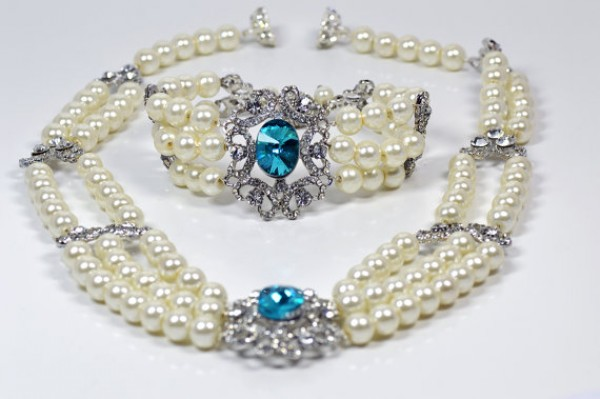 aquamarine jewellery set