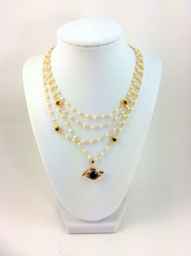 black gold necklace