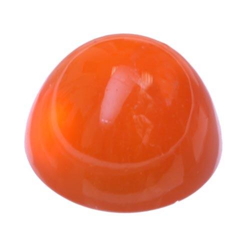 Cabochon Bullet Red-Orange Carnelian