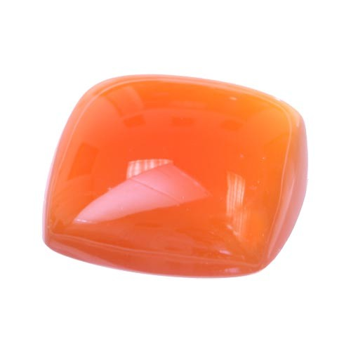 Cabochon Cushion Red-Orange Carnelian