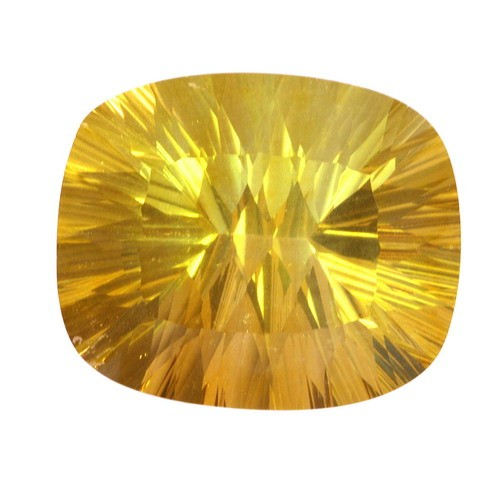 Cushion Rare Large Golden Fluorite