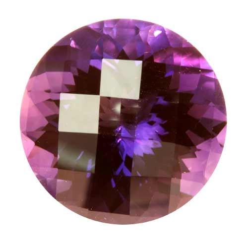 Dark Purple Round Amethyst Briolette