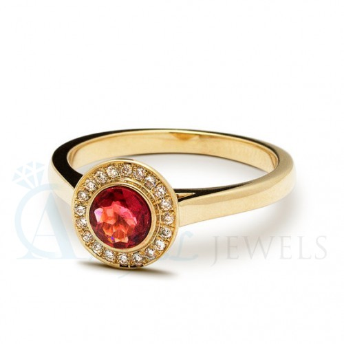 Natural Red Garnets Ring