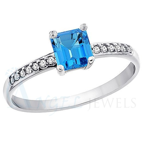 Blue Topaz Goden Ring