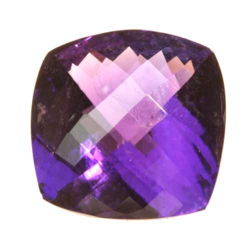 Double Checker Board Cushion Amethyst