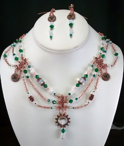 emerald jewellery set