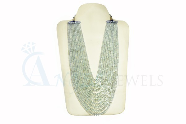 Angel Jewels Real Aquamarine Necklace