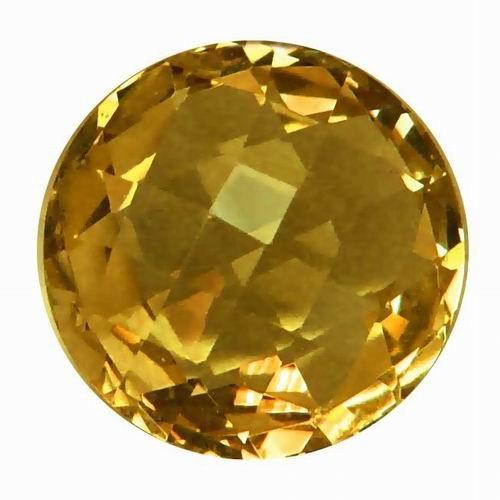 Golden Round Golden Citrine