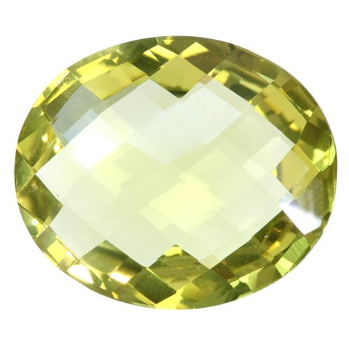 Oval Checker Board Rare Large Lemon Citrine