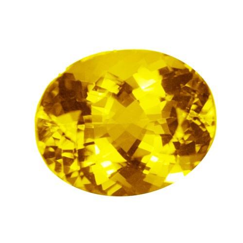 Oval Golden Citrine