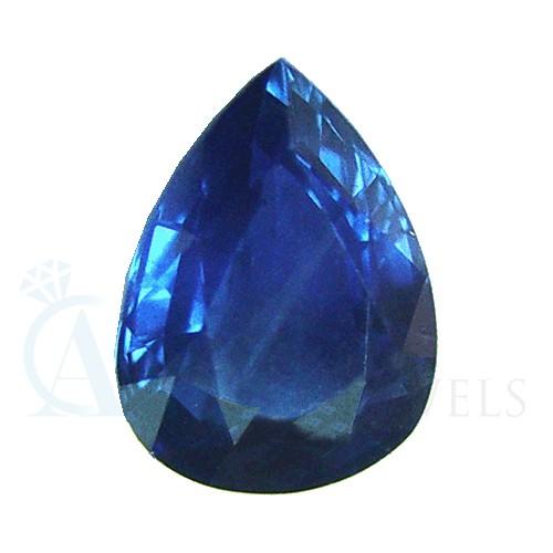 Pear Blue Sapphire