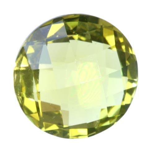 Round Checker Board Rare Large Lemon Citrine
