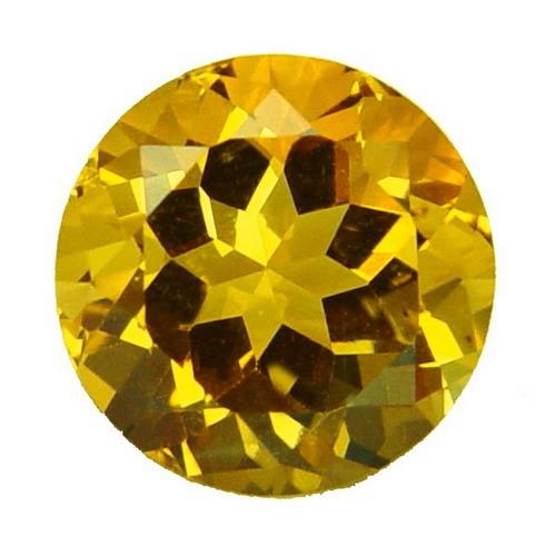 Round Rare Large Golden Fluorite