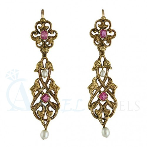 ruby earrings