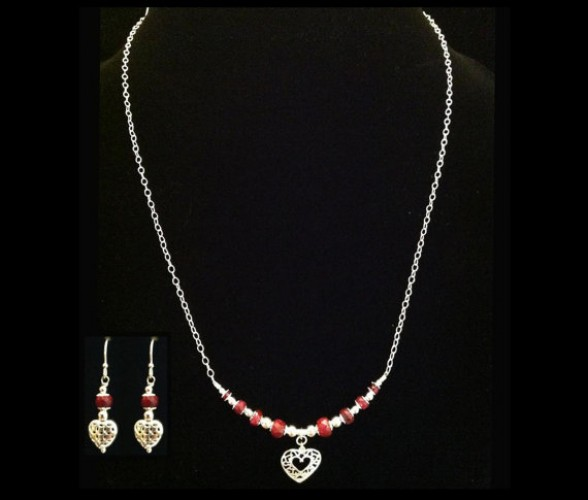 ruby jewellery set