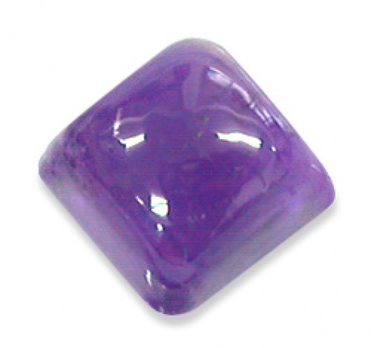 Square African Amethyst Cabochon