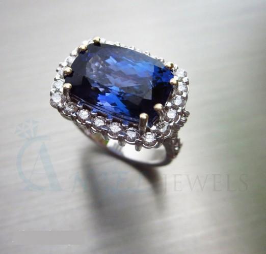 Tanzanite Diamond Rings